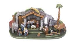 σκηνή nativity του Ιησού Josef Mary παχνιών Χριστουγέννων Χριστού Στοκ εικόνα με δικαίωμα ελεύθερης χρήσης