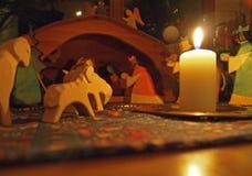 σκηνή nativity του Ιησού Josef Mary παχνιών Χριστουγέννων Χριστού Στοκ φωτογραφία με δικαίωμα ελεύθερης χρήσης
