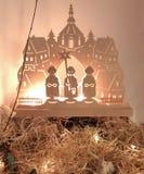 Σκηνή Nativity Χριστουγέννων ο ερχομός του βρεφικού σταθμού μάγων στοκ εικόνες με δικαίωμα ελεύθερης χρήσης