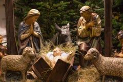 σκηνή nativity Χριστουγέννων παραδοσιακή Στοκ Εικόνα