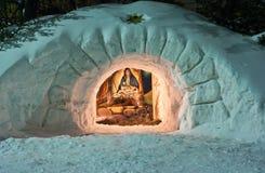 σκηνή nativity Χριστουγέννων στοκ φωτογραφίες