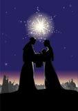 σκηνή nativity Στοκ Εικόνα