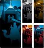 σκηνή nativity διανυσματική απεικόνιση