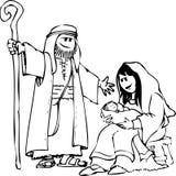 σκηνή nativity Στοκ φωτογραφίες με δικαίωμα ελεύθερης χρήσης