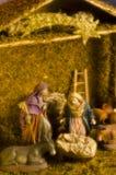 Σκηνή Nativy Χριστουγέννων Στοκ Εικόνες