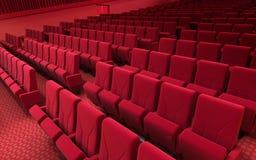 Σκηνικά καθίσματα κινηματογράφων Στοκ εικόνες με δικαίωμα ελεύθερης χρήσης