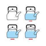 Σκηνική βράζοντας κατσαρόλα Οδηγία μαγειρέματος του βρασμένου νερού με το W ελεύθερη απεικόνιση δικαιώματος