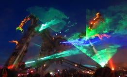 Σκηνική νύχτα Arcadia Glastonbury Στοκ εικόνα με δικαίωμα ελεύθερης χρήσης