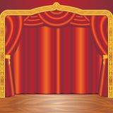 σκηνικό θέατρο Στοκ εικόνα με δικαίωμα ελεύθερης χρήσης
