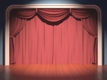 Σκηνικό θέατρο Στοκ εικόνες με δικαίωμα ελεύθερης χρήσης