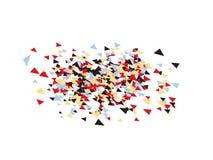 Σκηνικό κομφετί τριγώνων ελεύθερη απεικόνιση δικαιώματος
