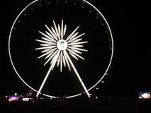 Σκηνικό λεωφορείο Farriswheel κοιλάδων Coachella στοκ φωτογραφία με δικαίωμα ελεύθερης χρήσης
