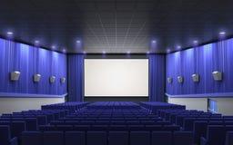 Σκηνικό μπλε κινηματογράφων Στοκ εικόνα με δικαίωμα ελεύθερης χρήσης