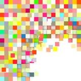 Σκηνικό μωσαϊκών στο χρώμα ουράνιων τόξων στο λευκό Στοκ Εικόνες
