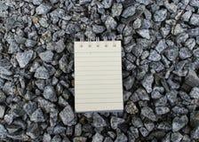 Σκηνικό πετρών της Λευκής Βίβλου που χρησιμοποιείται για τη λήψη σημειώσεων Στοκ Εικόνες