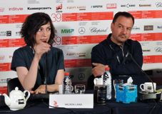 Σκηνοθέτης Lana Wilson στο διεθνές φεστιβάλ ταινιών της 39ης Μόσχας Στοκ εικόνα με δικαίωμα ελεύθερης χρήσης