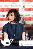 Σκηνοθέτης Lana Wilson στο διεθνές φεστιβάλ ταινιών της 39ης Μόσχας Στοκ Εικόνες