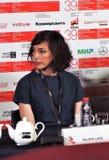 Σκηνοθέτης Lana Wilson στο διεθνές φεστιβάλ ταινιών της 39ης Μόσχας Στοκ φωτογραφία με δικαίωμα ελεύθερης χρήσης