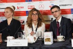 Σκηνοθέτης Valia Santella στην Τύπος-διάσκεψη στοκ εικόνες με δικαίωμα ελεύθερης χρήσης