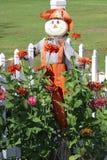 Σκιάχτρο και λουλούδια Στοκ Φωτογραφίες