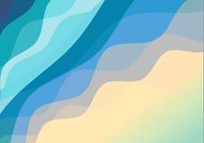 Σκιά αφθονίας της μπλε καμπύλης στο άσπρο κενό διάστημα Περίληψη backgr Στοκ Εικόνες