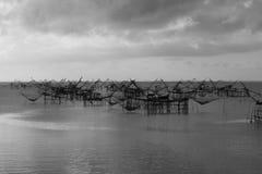 Σκιά διχτυών ψαρέματος Στοκ Φωτογραφία