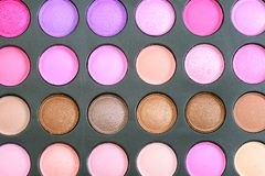 Σκιά ματιών καθορισμένη pallete στοκ φωτογραφία με δικαίωμα ελεύθερης χρήσης