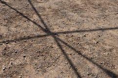 Σκιά μιας δομής μετάλλων στοκ εικόνα με δικαίωμα ελεύθερης χρήσης
