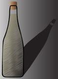Σκιά μπουκαλιών CHAMPAGNE Στοκ εικόνα με δικαίωμα ελεύθερης χρήσης