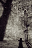 σκιά νεκροταφείων στοκ εικόνα με δικαίωμα ελεύθερης χρήσης