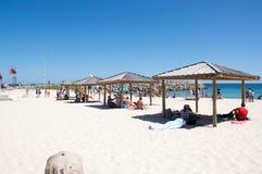 Σκιά παραλιών: Παραλία Cottesloe με τα γλυπτά Στοκ Εικόνα