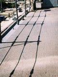 Σκιά σε ένα σκάφος Στοκ Εικόνες