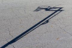 Σκιά στεφανών καλαθοσφαίρισης Στοκ φωτογραφία με δικαίωμα ελεύθερης χρήσης