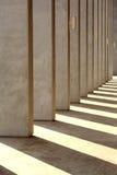 σκιά στηλών Στοκ Φωτογραφία