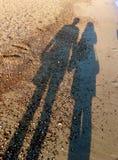 Σκιά στην άμμο Στοκ Εικόνες