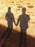 Σκιά στον τοίχο Στοκ εικόνα με δικαίωμα ελεύθερης χρήσης