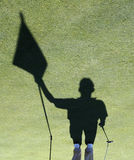 σκιά συνοδών παίχτη γκολφ Στοκ Φωτογραφία
