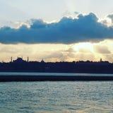 Σκιά της πόλης Κωνσταντινούπολη Στοκ φωτογραφία με δικαίωμα ελεύθερης χρήσης