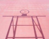 Σκιά της στάσης στεφανών καλαθοσφαίρισης Στοκ εικόνα με δικαίωμα ελεύθερης χρήσης