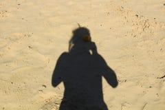 Σκιά του ατόμου Στοκ Φωτογραφίες