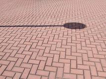 σκιά τούβλου στοκ φωτογραφίες