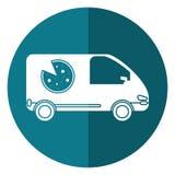Σκιά υπηρεσιών πιτσών delivery car van Στοκ Εικόνα