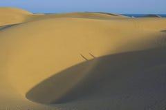 σκιά 2 αμμόλοφων Στοκ Φωτογραφίες