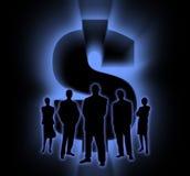 σκιά 2 ανθρώπων χρημάτων ελεύθερη απεικόνιση δικαιώματος