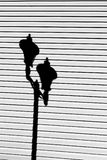 Σκιά Lamppost Στοκ Φωτογραφία