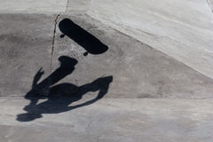 Σκιά Skateboarder στοκ φωτογραφία