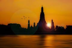 Σκιά Sunser Στοκ Εικόνες