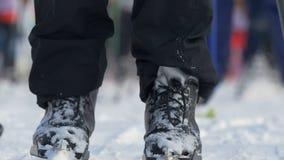 Σκιέρ αθλητών ατόμων μαζικής έναρξης κατά τη διάρκεια του πρωταθλήματος διαγώνιο να κάνει σκι χωρών στοκ εικόνες