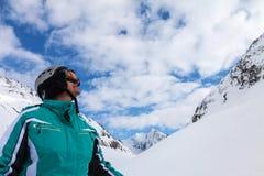 Σκιέρ, Solden, Αυστρία, ακραίος χειμερινός αθλητισμός στοκ φωτογραφία