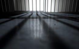 Σκιές κυττάρων φυλακών απεικόνιση αποθεμάτων